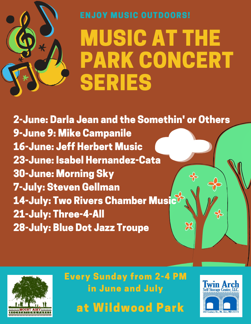 Music at the Park Concert series flyer