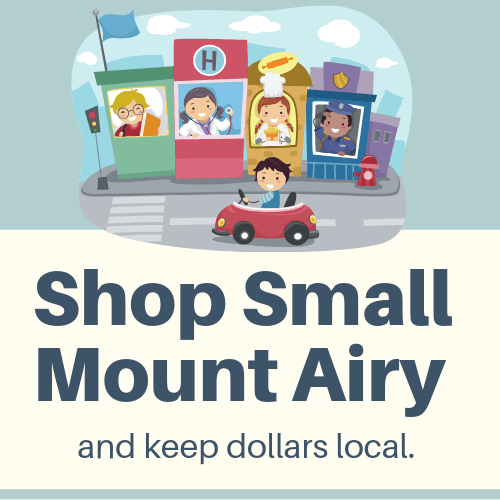 Shop Small Mount Airy Logo