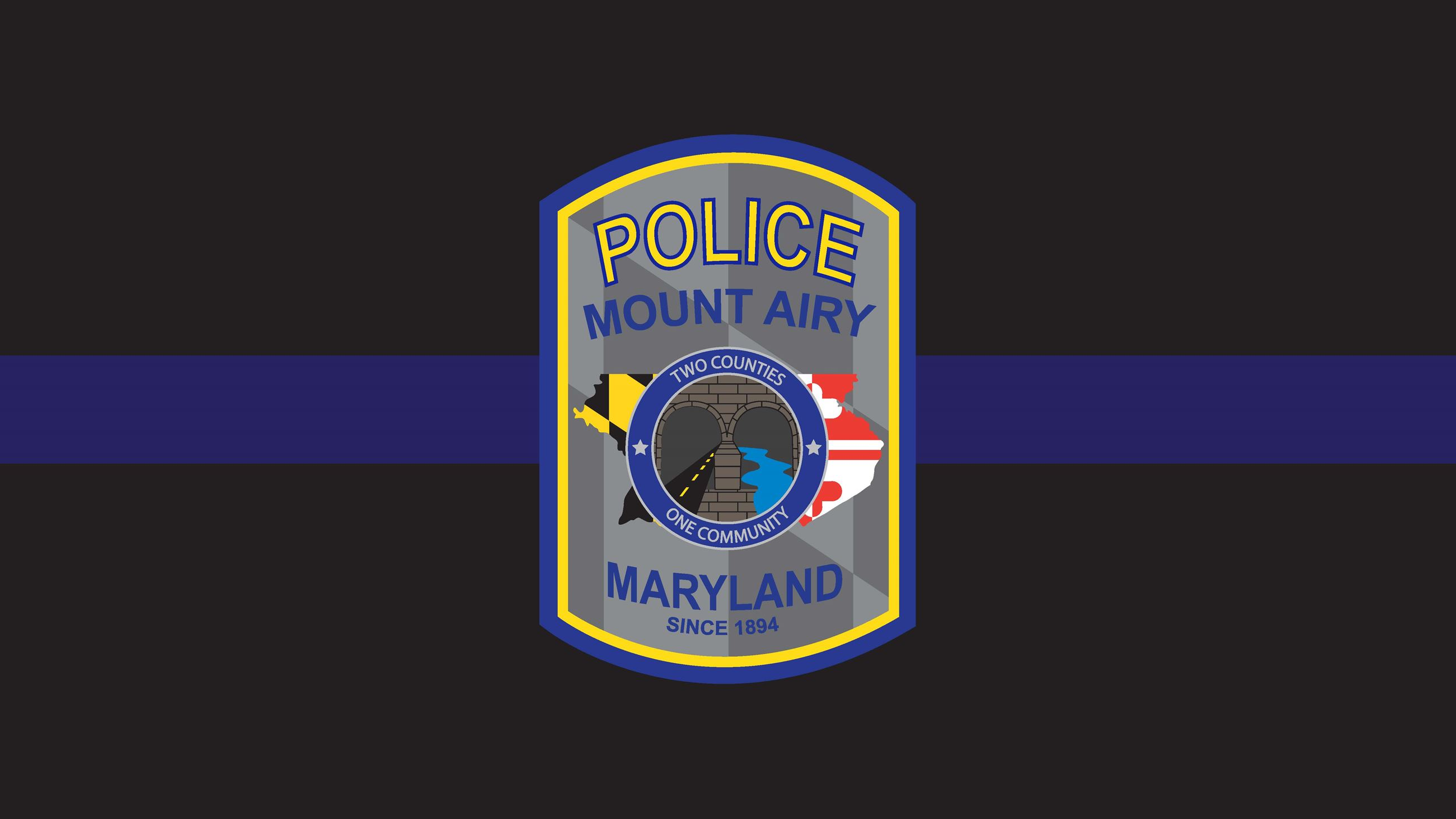 Mount Airy PD Patch with Blue Stripe