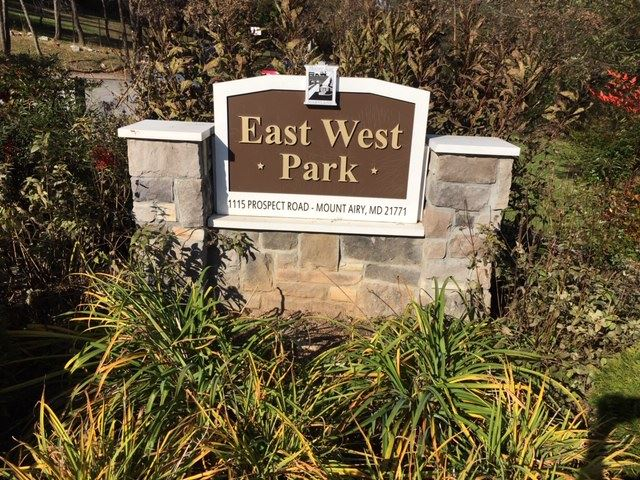 East West Park Sign